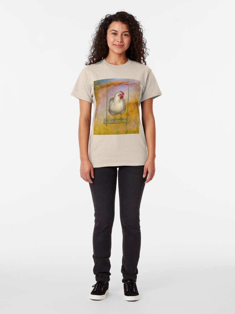 Alternate view of Just a Chicken on a Swing Classic T-Shirt