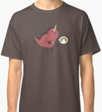 Dinosaur dressed up as a unicorn  Classic T-Shirt