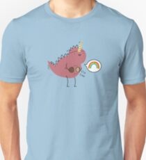 Dinosaur dressed up as a unicorn  T-Shirt