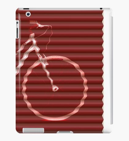 Red Bike Lines iPad Case/Skin