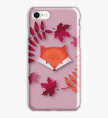 Fox in autumn iPhone Case/Skin