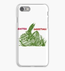 Easter Bunny Easter Greetings iPhone Case/Skin