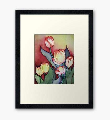 Time for Tulips Framed Print