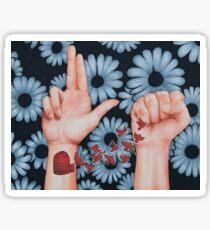 guns for hands Sticker