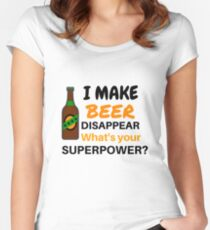 i make beer disappear Women's Fitted Scoop T-Shirt