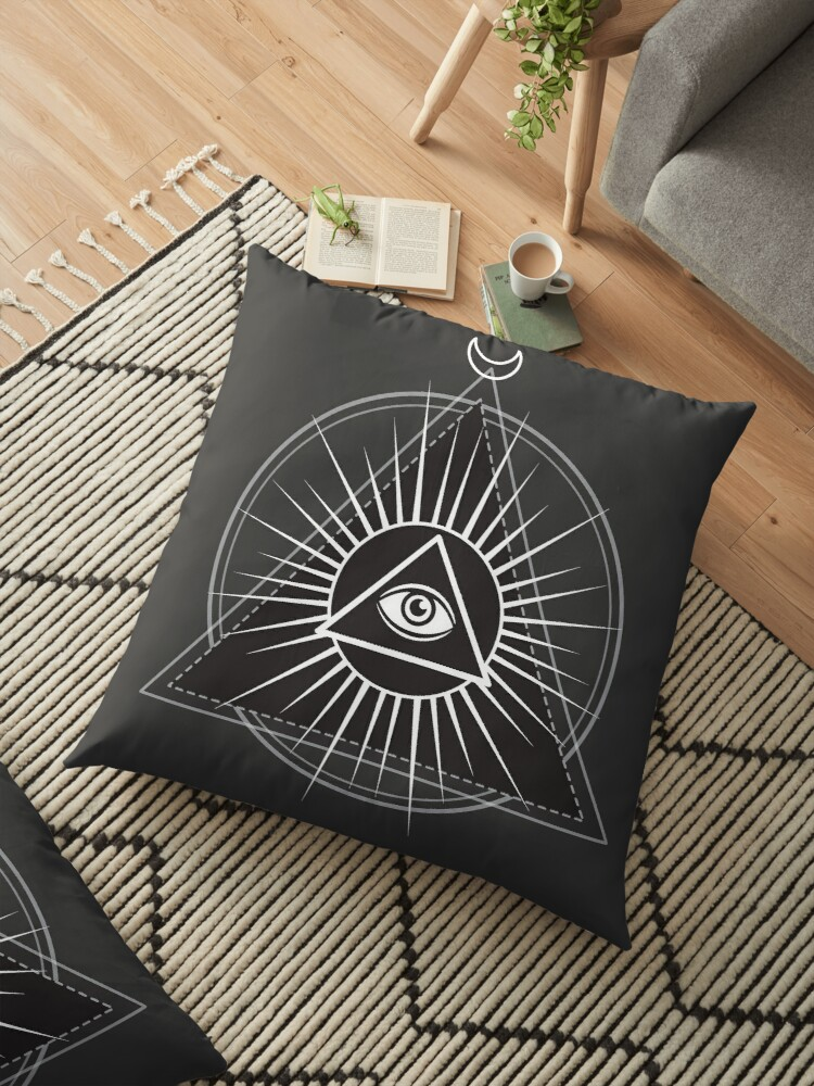 Illuminati Pyramid With All Seeing Eye Floor Pillows By