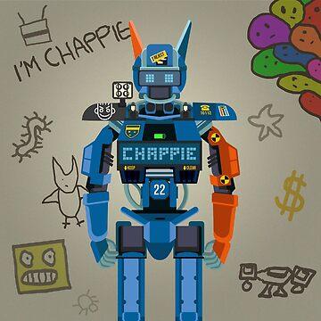Rebel robot police character fanart by TIERRAdesigner