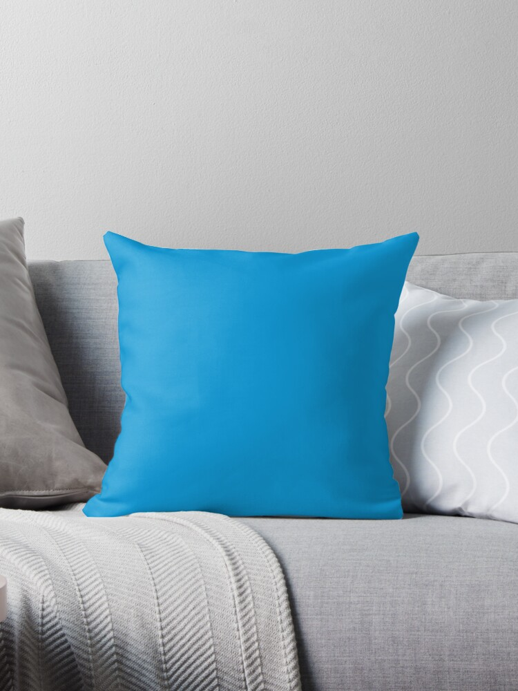 Neon fluorescent Blue / 70 Shades of Blue Here by ozcushions