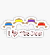 I Love the Dans Sticker