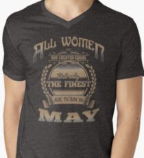 Women Created Equal The Finest Are Born In May Birthday Design T-Shirt