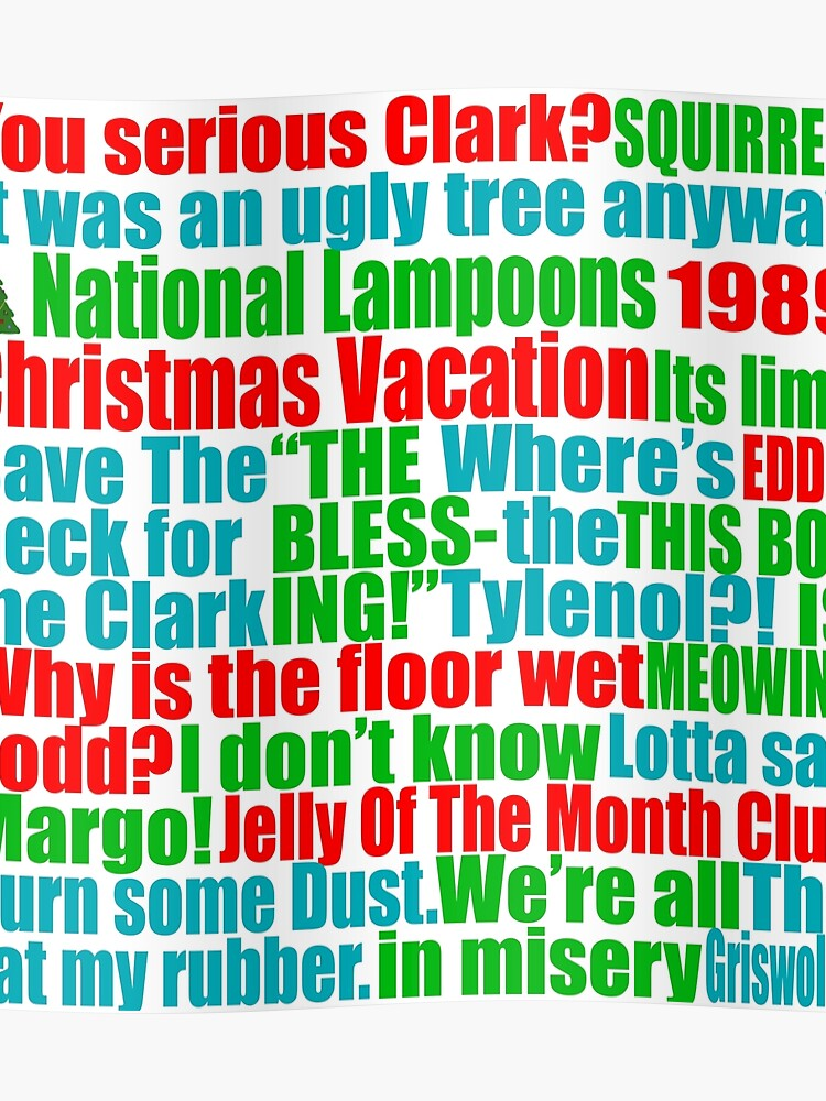 Christmas Vacation Quotes.Christmas Vacation Quotes Poster