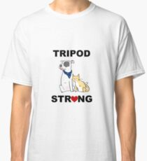 Tripod Strong Dog and Cat Classic T-Shirt