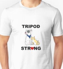 Tripod Strong Dog and Cat T-Shirt