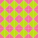 Pink and green pattern background by ikshvaku