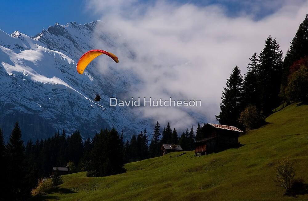 Paraglider - Murren by David Hutcheson