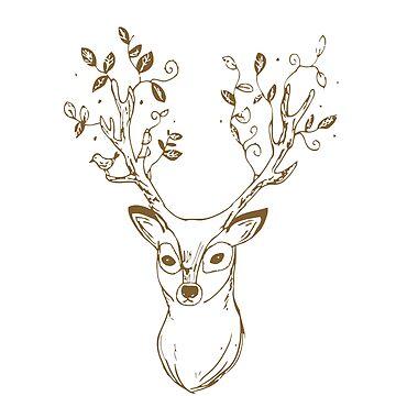 Deer Stag Antlers by TheShirtShopUK