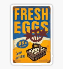 Fresh Eggs for Everyone! Sticker