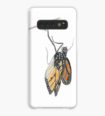 Monarch Butterfly emerging from its Chrysalis Case/Skin for Samsung Galaxy