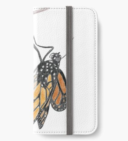 Monarch Butterfly emerging from its Chrysalis iPhone Wallet