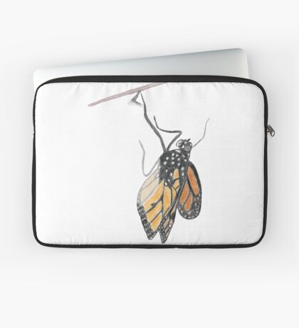 Monarch Butterfly emerging from its Chrysalis Laptop Sleeve