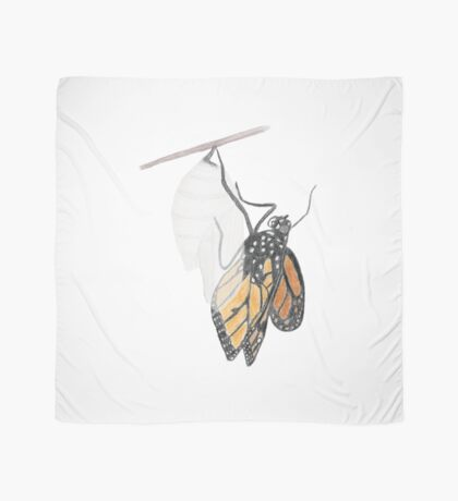Monarch Butterfly emerging from its Chrysalis Scarf