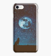 Howling Wolf - Full Moon iPhone Case/Skin