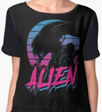 ALIEN EIGHTEES movie old good style eightees covenant nostromo Women's Chiffon Top