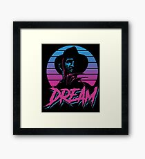 Nightmare Dream EIGHTEES 1980 STYLE COLORFUL Framed Print