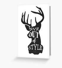 Never Out Of Style Stag Greeting Card