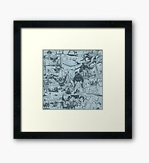 From Above Comic Framed Print