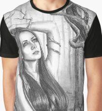 Ancient Tree Woman Fantasy Art Goddess Art Forest Graphic T-Shirt