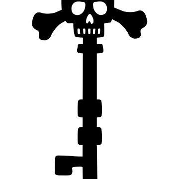Vintage Skull Key to the Pirate Treasure Chest - Black by XOOXOO