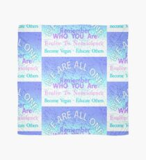 WE ARE ALL ONE. BECOME VEGAN. Scarf