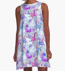 Unicorns in Clouds A-Line Dress