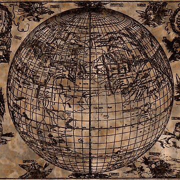 Vintage Old World Map by NaturePrints