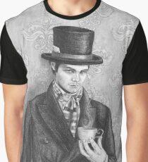 Mad Hatter Art Alice in Wonderland Art Fairy Tale Art Graphic T-Shirt
