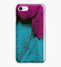 Plumage - Wet Bird Feather - Cool Pink Violet And Blue Girly Pattern  iPhone Case/Skin
