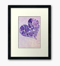 purple hart Framed Print