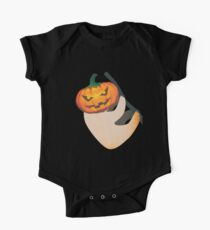 Lazy Sloth with Jack O Lantern Halloween Head Kids Clothes