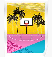 Dope - memphis retro vibes basketball sports athlete 80s throwback vintage style 1980's Poster
