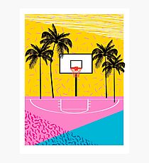 Dope - memphis retro vibes basketball sports athlete 80s throwback vintage style 1980's Photographic Print