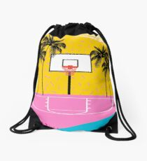 Dope - memphis retro vibes basketball sports athlete 80s throwback vintage style 1980's Drawstring Bag