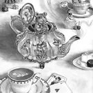 Dormouse Art Mouse Art Alice in Wonderland Tea Pot by Deanna Davoli