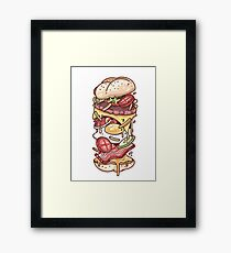 Burger Monster Framed Print