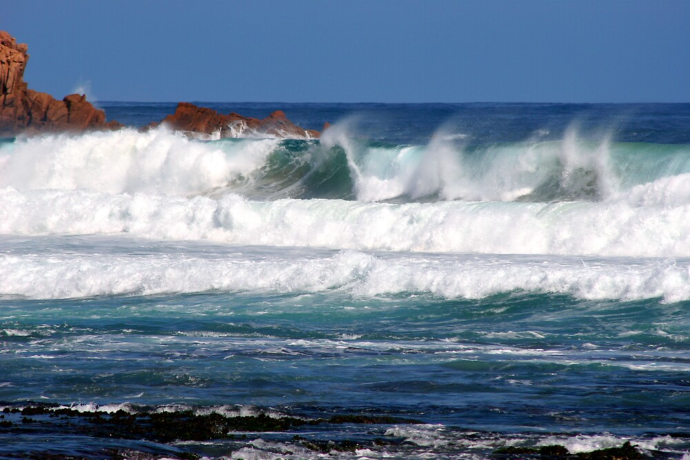 Waves at Woolamai by Dave Law