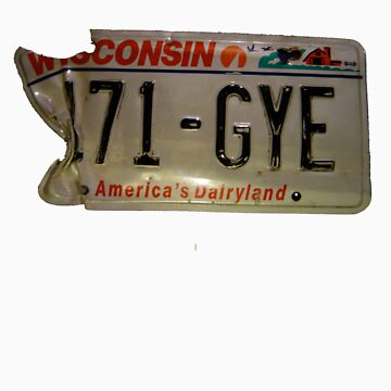 License Plate tee by rize25