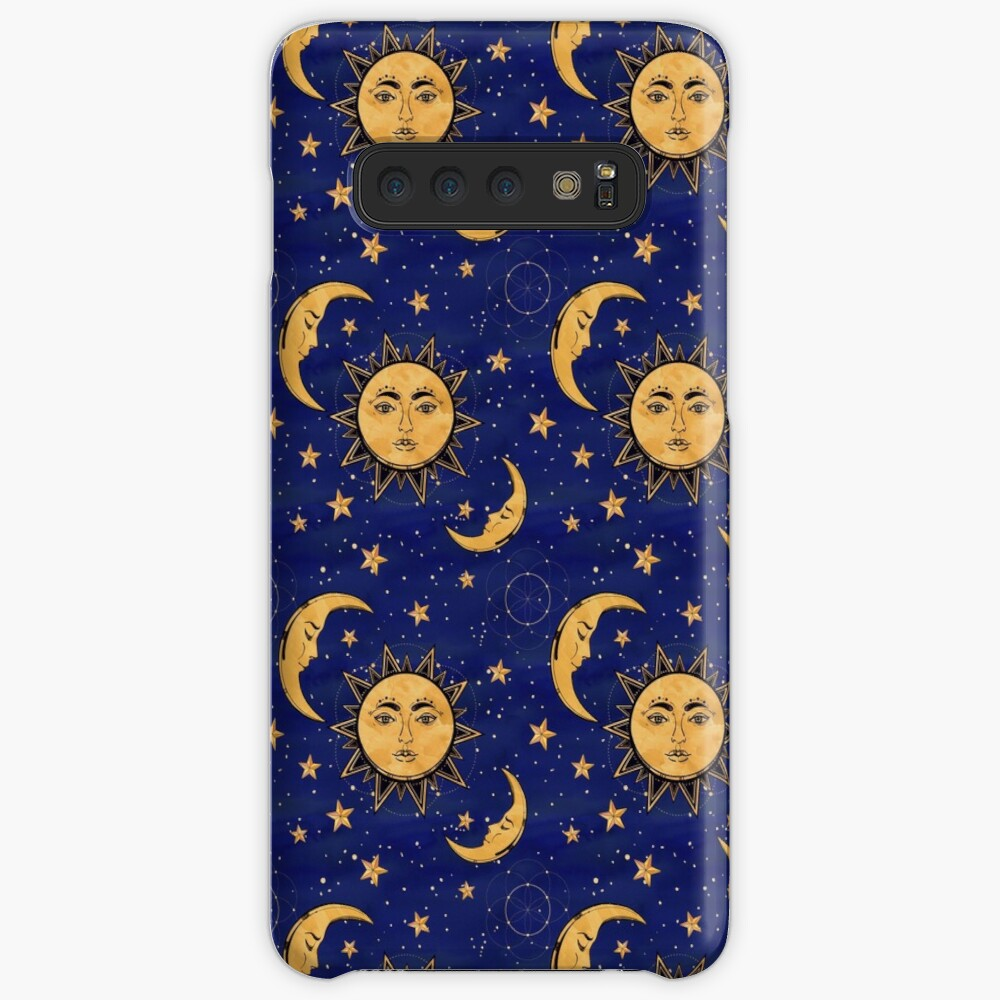 Vintage moon and sun stars celestial Cases & Skins for Samsung Galaxy