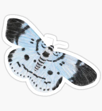 Blue Tiger Moth Glossy Sticker