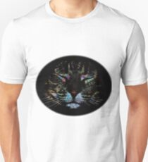 Sleeping Cat Rainbow (Round) T-Shirt