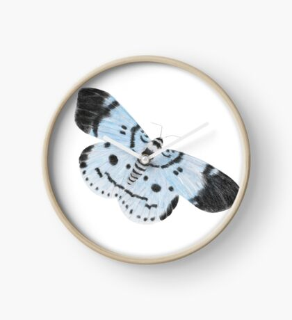 Blue Tiger Moth Clock